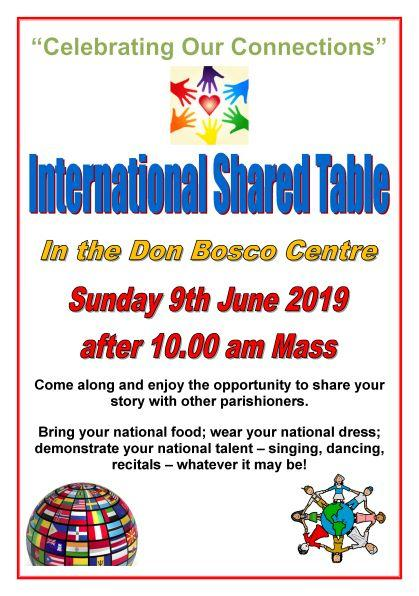 Shared Table flyer